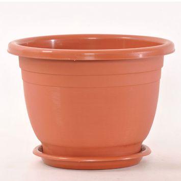 311693 Planter Round Plastic W / Tray (12-Pack) Gardening Cheap Wholesale Discount Bulk Hardware Gardening Black