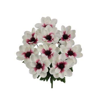 Admiredbynature Artificial Full Blooming Magnolia Flower Bush Color: Cream/Burgundy Ccenter