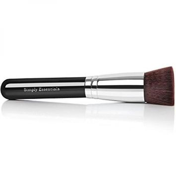 Kabuki Professional Makeup Brush With Big Flat Top for Liquid, Cream Mineral, & Powder Foundation & Face Cosmetics - Best Quality Design - Carrying Case & E-Book Included - Great For Gifts!