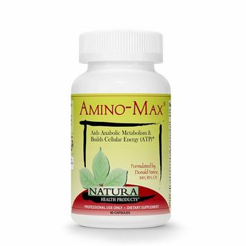 Natura Health Products - Amino-Max - Nutrients to Promote Lean Muscle, Sustained Energy and Optimized Recovery Time - 90 Capsules