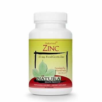 Natura Health Products - Zinc - 25 mg. Highly Bioavailable Food-Grown Zinc - 60 Capsules