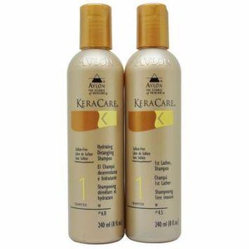 Keracare Hydrating Detangling & 1st Lather Shampoos 240 ml Set