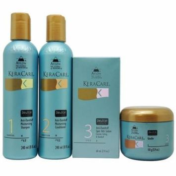 Keracare Dry&Itchy Shampoo & Conditioner 8 Oz + Glossifier 3.9 Oz + Spot Lotion