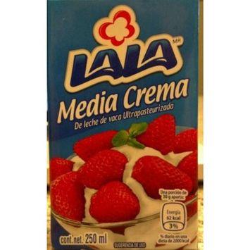 Lala Media Cream De Leche De Vaca Ultrapasteurizada 250ml (Pack of 10))