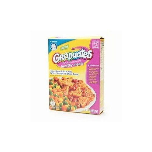 Gerber® Graduates for Pre Schoolers Healthy Meals, Pizza Shaped Pasta with Turkey Sausage