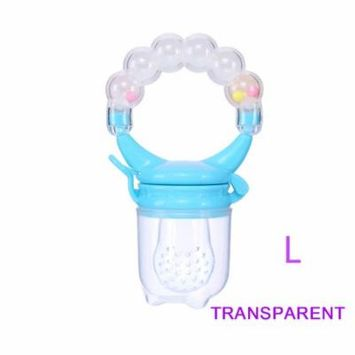 1Pcs Baby Pacifiers Feeder Kids Fruit Feeder Nipples Feeding Safe Baby Supplies Nipple Teat Pacifier Bottles ( Transparent L)