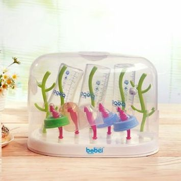 Baby Bottle Drying Rack Baby Feeding Bottles Cleaning Drying Rack Storage Nipple Shelf Baby Pacifier Feeding Cup Holder