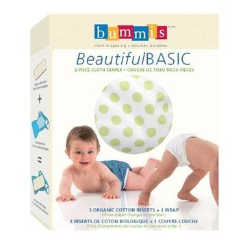 Bummis Beautiful Basic 2-piece Cloth Diaper, Unisex, Small (Discontinued by Manufacturer)