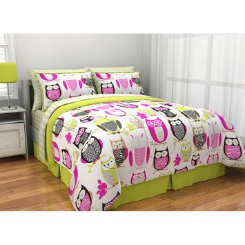 itude Sketchy Owl Reversible Bed in a Bag