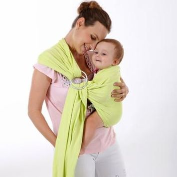 Baby Wrap Carrier - All-in-1 Stretchy Baby Wraps - Baby Sling - Infant Carrier - Babys Wrap - Hands Free Babies Carrier Wraps | Great Baby Shower Gift (Green)