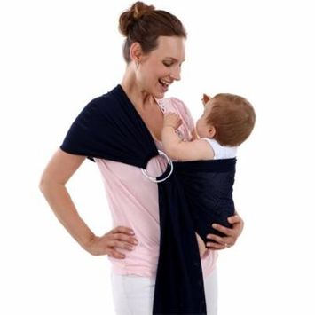 Baby Water Ring Sling Carrier | Lightweight Breathable Mesh Baby Wrap for Infant, Newborn, Kids and Toddlers | Perfect for Summer, Swimming, Pool, Beach (Black)