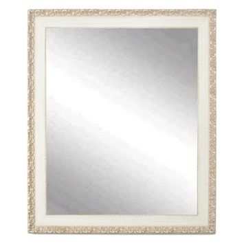 BrandtWorks Vintage English Cream Wall Mirror