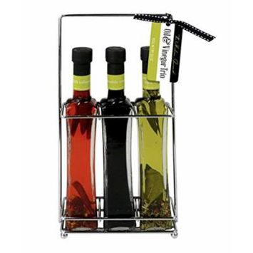 Gourmet Infused Olive Oils & Vinegar Trio Gift Set , Chili Infused Oil, Italian Extra Virgin Olive Oil & Italian Balsamic Vinegar to be enjoyed with Pizza, Salads, Pasta, and More