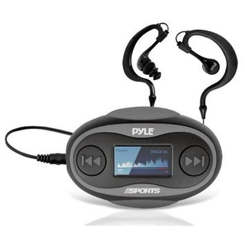 Pyle PSWP25 4GB Waterproof MP3 Player/FM Radio with Pedometer, Lap Counter, Stop Watch, LCD Display, Black