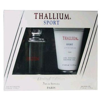 Yves de Sistelle Thallium Sport Fragrance Set for Men: EDT Spray 3.3 Ounce & Shower Gel 3.3 Ounce
