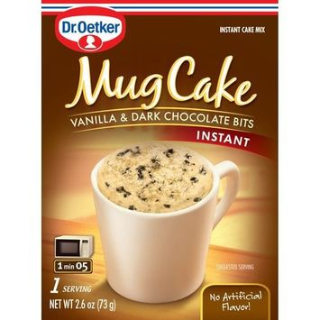 Dr Oetker Organic's MUG CAKE, VAN & CHOC BITS, (Pack of 12)