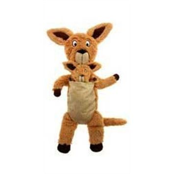 Charming Pet Products Pouch Mates Kangaroo Small Plush Dog Toy