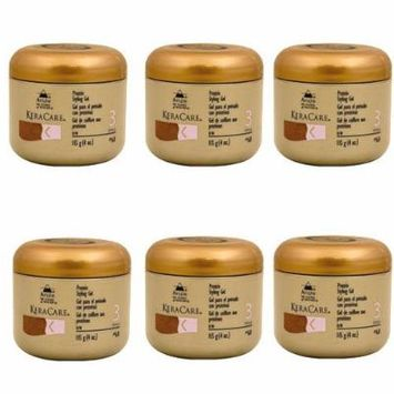 Keracare Protein Styling Gel 4oz (Pack of 6)