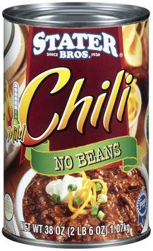 Stater bros No Beans Mild Chili
