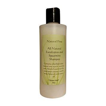 Natural First Eucalyptus Spearmint Calming Shampoo - Chemical, Sls, Paraben Free 8oz