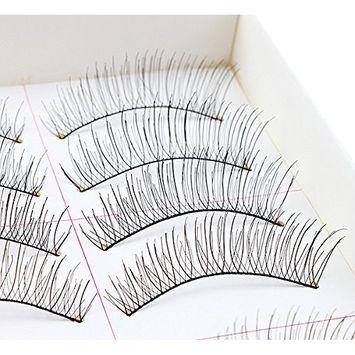 False Eyelashes, AGPtEK 10 Pairs Handmade Natural Regular Long Soft Fake Eye Lashes Extension for Makeup Cosmetic