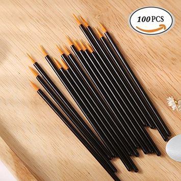 100 pcs Disposable Eyeliner Applicator Brush Eye Liner Liquid Wands