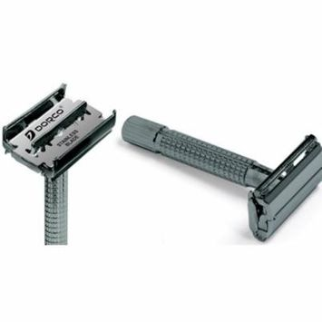 Double Edge Safety Razor with Butterfly Top for a Premium Shave - Black