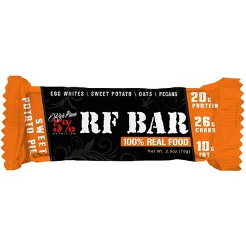 Rich Piana 5% Nutrition, RF Bar Sweet Potato Pie Flavor (10 Count), 20g Protein 70g Serving Size