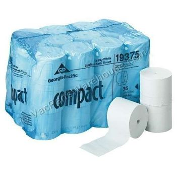 Angel Soft Professional Series Compact Premium Embossed Coreless 2-Ply Toilet Paper by GP PRO, 19372, 1125 Sheets Per Roll, 18 Rolls Per Case [19372]