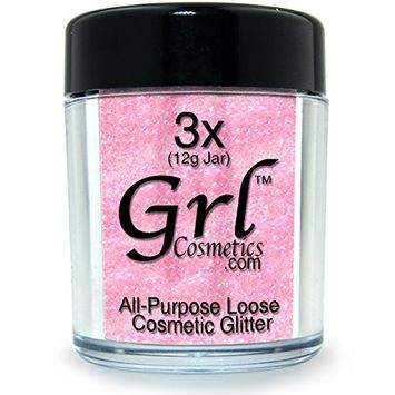 Grl Cosmetics Cosmetic Glitter Makeup for Face, Eyes, Lips, Nails and Body - GL29 Ballerina, 12 Gram Jar