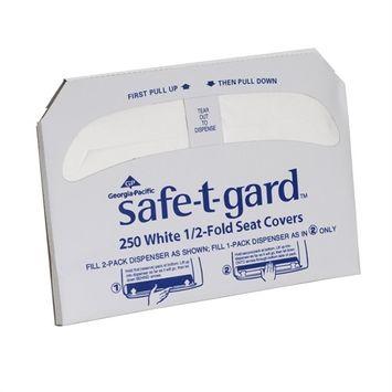 Georgia-Pacific Half-Fold Toilet Seat Covers, White, 250/Pack, 20 Boxes/Carton 47046