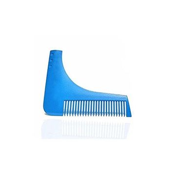 Portative Beard Comb -Men's Facial Hair Style Stencil -A perfect template for line up, edging, Goatee, Neck Line, Curve cut or Step cut or Straight Cut (red)