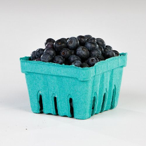 Pactiv Garden Party Berigard Berry Basket Molded Fiber Green, 1 qt. | 297/Case