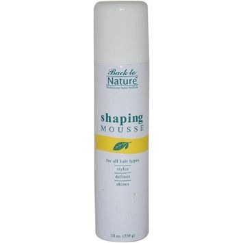 Shaping Mousse By Back To Nature, 10 Ounce
