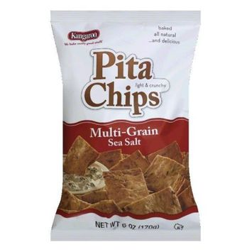Kangaroo Chip Pita Mlti Green Sea Salt 6 Oz Pack Of 12