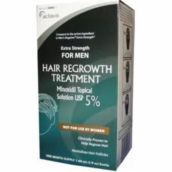 Minoxidil 5% Extra Strength Hair Regrowth Treatment Solution 60 ml [1 month supply] (Pack of 6)