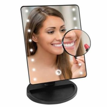 Professional Facial Cosmetic LED Light Mirror With 16 White Bulb