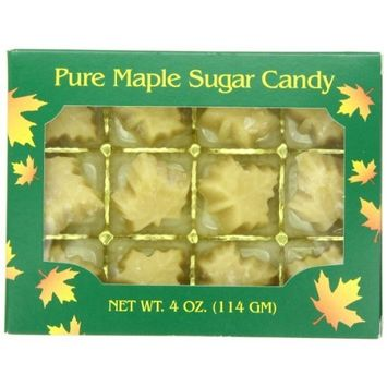 Butternut Mountain Farm 100% Pure Organic Maple Sugar Candy From Vermont, All Natural, 12 Leaf Candies, 4.5 oz Box [Organic Pure Maple Sugar Candy]