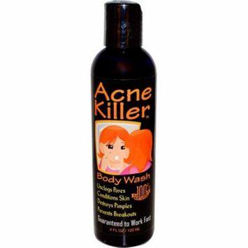 Greensations, Acne Killer, Body Wash, 4 fl oz(pack of 4)