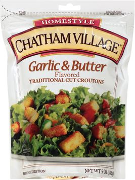 chatham village® garlic & butter flavored traditional cut croutons