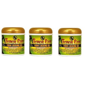 3 PACKS OF Bronner Brothers Tropical Roots Firm Locking Gel, 6 Ounce