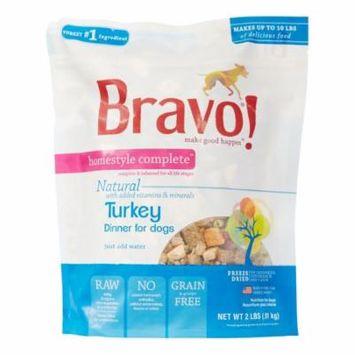 Bravo! Homestyle Complete Grain-Free Turkey Dinner Freeze Dried Dog Food, 2 lb