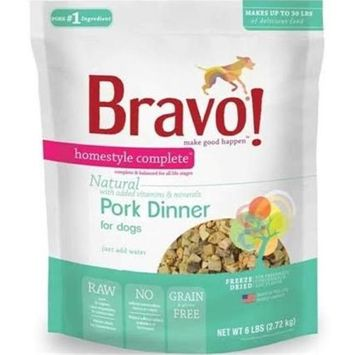 Bravo Homestyle Compelte Freeze Dried Meal Pork 6lbs