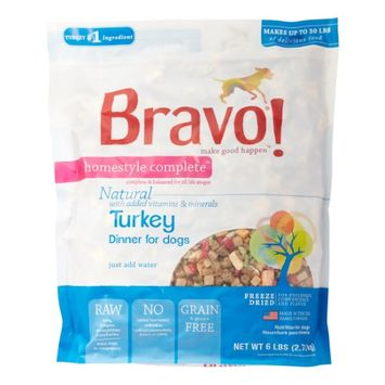 Bravo Homestyle Compelte Freeze Dried Meal Turkey 6lbs