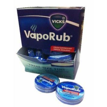 Vicks Vapo Rub Trail Size Tins 0.45oz (12g) 24 Dispenser Box