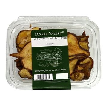 Jansal Valley All Natural Dried Sliced Pears, 8 Ounce