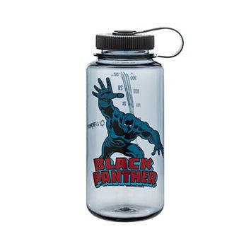 Nalgene Marvel Tritan Wide Mouth Water Bottle - 32 oz. - Black Panther In Action