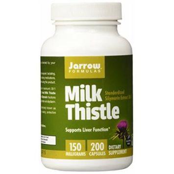Jarrow Formulas Milk Thistle Standardized Silymarin Extract 30:1 Ratio, 150 Mg Per Capsule, 200 Gelatin Capsules (2 Pack)
