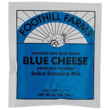 Foothill Farms Blue Cheese Dressing Mix, 3.4-Ounce Units (Pack of 6)