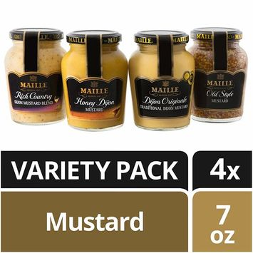 Maille Gourmet Mustard Variety, 4 Pack [Mustard Variety Pack]